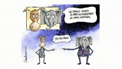 Karikatūru apskats: Masu apšaudes ASV