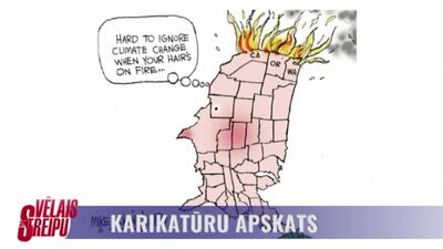 Karikatūru apskats: ASV Rietumkrasts liesmās