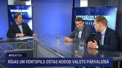 Speciālizlaidums: Rīgas un Ventspils ostas nodod valsts pārvaldībā