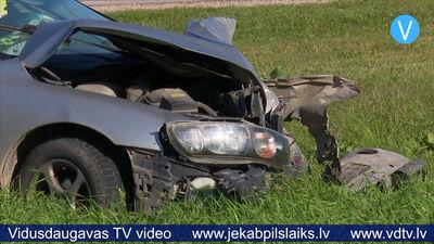 Pie Sēlijas ciema notikusi divu automašīnu sadursme; viens cietušais