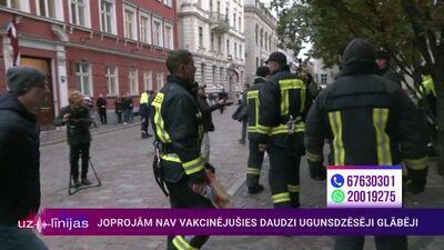 VUGD priekšnieka vietnieks komentē atsevišķu ugunsdzēsēju dalību akcijā pie Saeimas