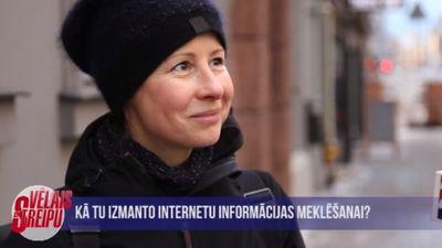 Kā iedzīvotāji izmanto internetu informācijas meklēšanai?
