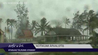 Tropiskās vētras dēļ Taizēmē evakuēti 30 000 cilvēku