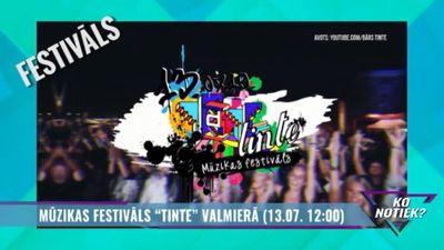 """Mūzikas festivāls """"Tinte"""" Valmierā"""