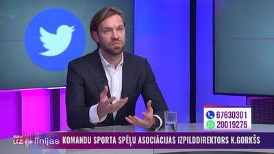 Gorkšs: Galvenais mērķis ir izstrādāt sportošanas ierobežojumu pakāpenisku mīkstināšanu