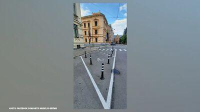 Edmunds Zivtiņš izsaka viedokli par stabiņu risinājumu Rīgas ielās
