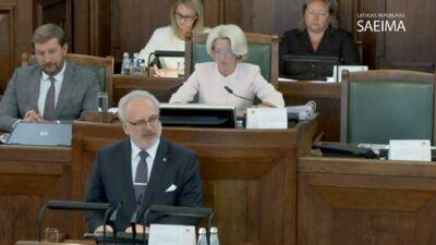 Prezidenta uzruna deputātiem pirmajā rudens sesijas sēdē