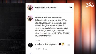 Kāpēc Ralfs Eilands ir Muhameda Ali fans?