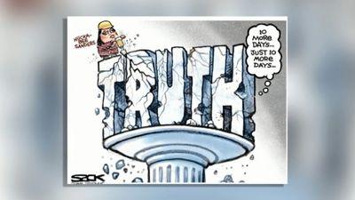 Karikatūru apskats: Melīgā preses sekretāre