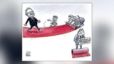 Karikatūru apskats: Levits - nācijas tēvs?