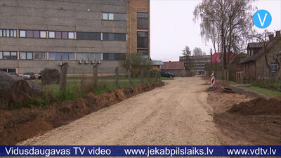 Jēkabpilī turpinās ielu būvdarbi