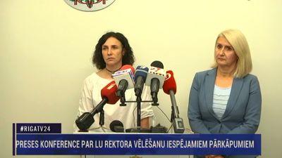 Speciālizlaidums:  Preses konference par LU rektora vēlēšanu iespējamiem pārkāpumiem