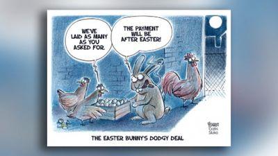 Karikatūru apskats: Viltīgais Lieldienu zaķis!