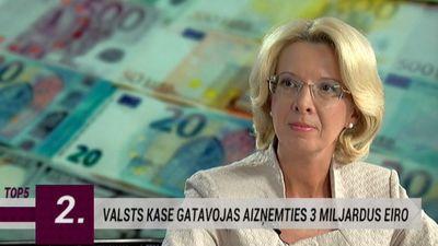 Valsts kase gatavojas aizņemties 3 miljardus eiro