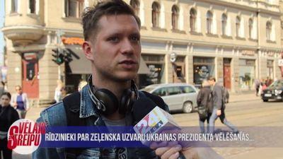 Rīdzinieki par Zeļenska uzvaru Ukrainas prezidenta vēlēšanās