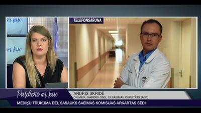 Mediķu trūkuma dēļ sasauks Saeimas komisijas ārkārtas sēdi