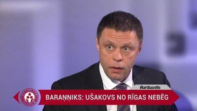"""""""Ušakovs mēģinās palīdzēt Rīgai no Eiropas,"""" tā Baraņņiks"""