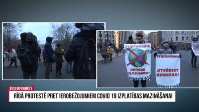 Speciālizlaidums: Rīgā protestē pret ierobežojumiem Covid-19 izplatības mazināšanai 2. daļa