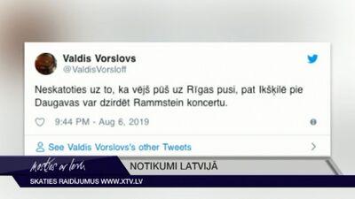 """Tvītotāji par """"Rammstein"""" koncertu Rīgā"""