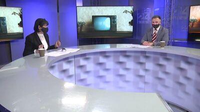 Edmunds Beļskis stāsta par Rīgas TV torņa izmaiņām pēc rekonstrukcijas