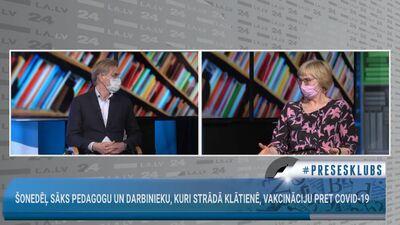 """Māris Gulbis un Ingrīda Circene diskutē par """"AstraZeneca"""" vakcīnas lietošanu"""