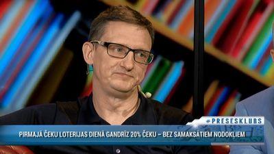 Jurģis Liepnieks par čeku loteriju