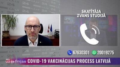 Veselības ministrs stāsta par aktuālo Covid-19 vakcinācijas procesu Latvijā