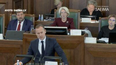 Speciālizlaidums: Saeimā diskutē par Šuplinskas demisijas pieprasījumu 1. daļa