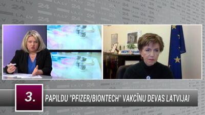 Inese Vaidere par papildus vakcīnu devām Latvijai