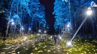 Rīgas mērs: Divi Rīgas parkos izvietotie gaismas objekti tiks pārveidoti, lai neradītu drūzmēšanos