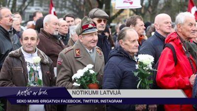 Leģionāru atceres gājiens Rīgā pulcējis vairāk nekā 1000 cilvēku