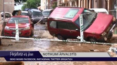 Spānijā traģiski lietusgāžu plūdi
