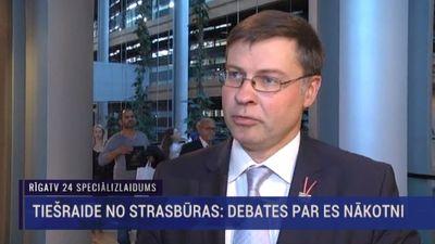 Valdis Dombrovskis par Merkeles uzrunu Eiropas Parlamentā