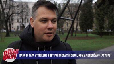 Iedzīvotāju domas par partnerattiecību likuma pieņemšanu Latvijā