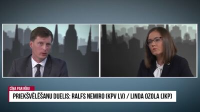 Priekšvēlēšanu duelis: Nemiro/Ozola