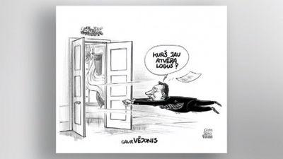 Karikatūru apskats: Prezidents gatavs caurvējonim?