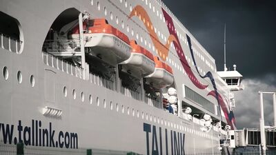 Tallink Grupp kuģis Baltic Queen pirmo reizi ierodas Rīgā