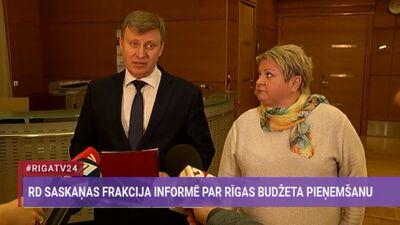 """RD """"Saskaņas"""" frakcija gatava pieņemt Rīgas budžetu tikai pēc Burova atlaišanas"""