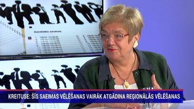 Kreituse: šīs Saeimas vēlēšanas vairāk atgādina reģionālās vēlēšanas