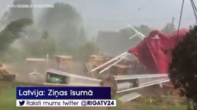 Aculiecinieka video: negaidīta vētra izposta krodziņu Krimuldas pagastā