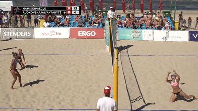 Ergo Open pludmales volejbolā 4. Posms: Par 3. Vietu Sievietēm. Spēles ieraksts
