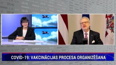 Levits: Vakcinācijas projekta biroja darba rezultātus redzēsim pēc Lieldienām