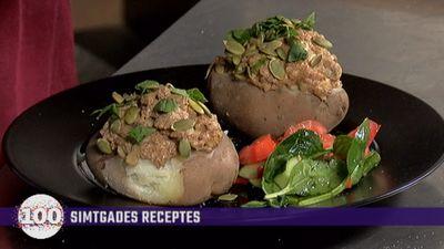 Interesanti: Pildīti kartupeļi ar griķiem un zaļumu mērci