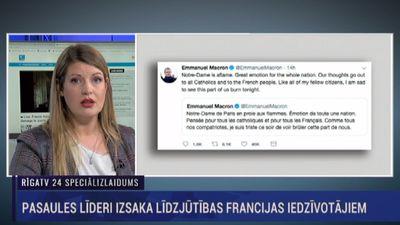 Pasaules līderi izsaka līdzjūtības Francijas iedzīvotājiem