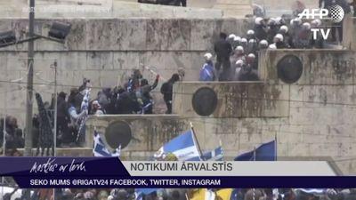 Atēnās noris protesti pret Maķedonijas nosaukuma maiņu
