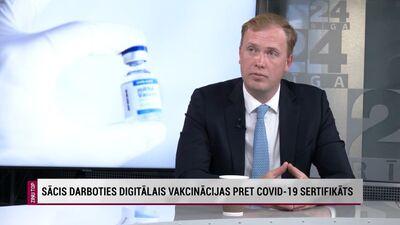 Viktors Valainis par digitālo pret Covid-19 vakcinācijas sertifikātu