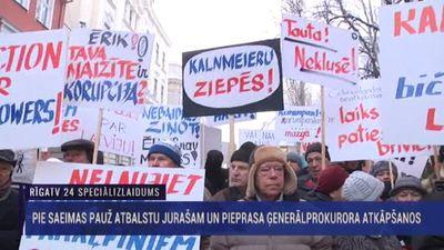 Speciālizlaidums: Pikets pie Saeimas deputāta Juraša atbalstam 1. daļa
