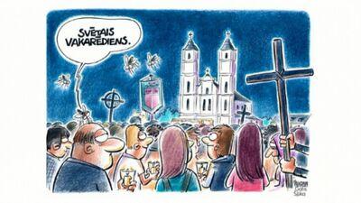Karikatūru apskats: Svētais vakarēdiens odiem