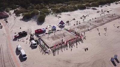 Ergo Open pludmales volejbols: 1. Pusfināls dāmām. Spēles ieraksts.