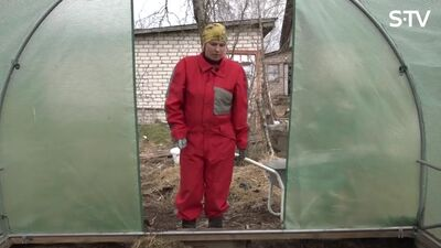 Kā Magone dārzā strādāja